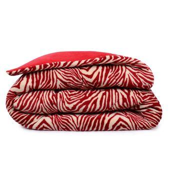 Edredom-Queen-Estampado-Zebra-Vermelha-Microfibra---Atlantica