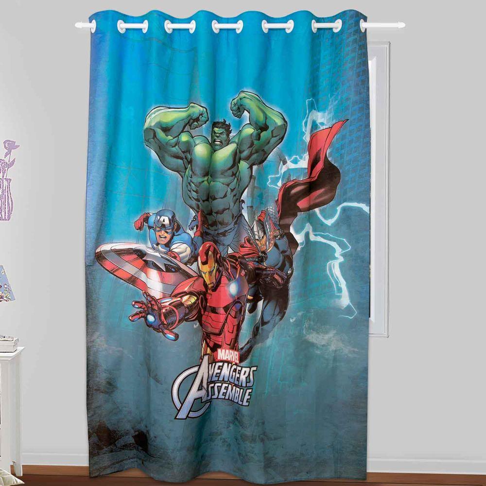 Cortina para Quarto Infantil Os Vingadores 1,30m x 2,10m  Lepper  ShopCama