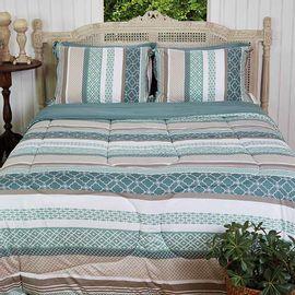 Cobre-leito-Casal-Malha-Casa-Brasil-Mosaico-Verde-com-Porta-Travesseiro---Atlantica