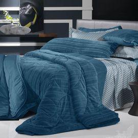 Edredom-Queen-Blend-Elegance-Marine-Blue---Altenburg