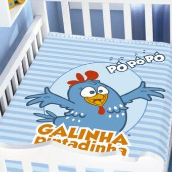 Cobertor-Raschel-90cm-x-110m-Galinha-Pintadinha-Galinha-Cantando---Jolitex