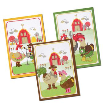 Kit-Pano-de-Prato-3-Pecas-Country-Chicken---Dohler