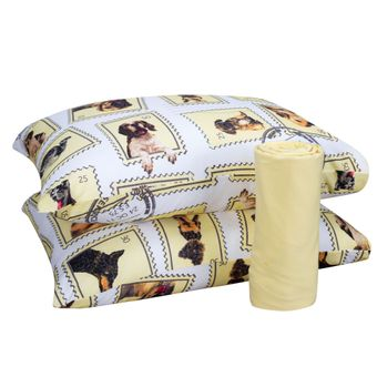 Jogo-de-Cama-King-Malha-Dogs-Amarelo-3-Pecas---ShopCama