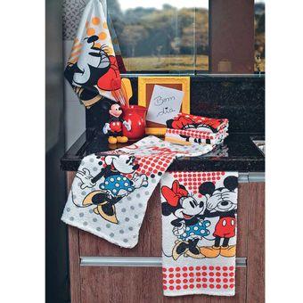 Pano-de-Prato-Mickey-e-Minnie-6-Pecas---Lepper
