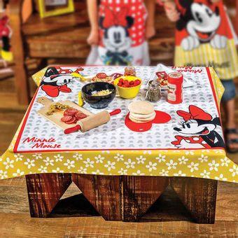 Toalha-de-Mesa-4-Lugares-Quadrada-140-x-140cm-Mickey-e-Minnie---Lepper