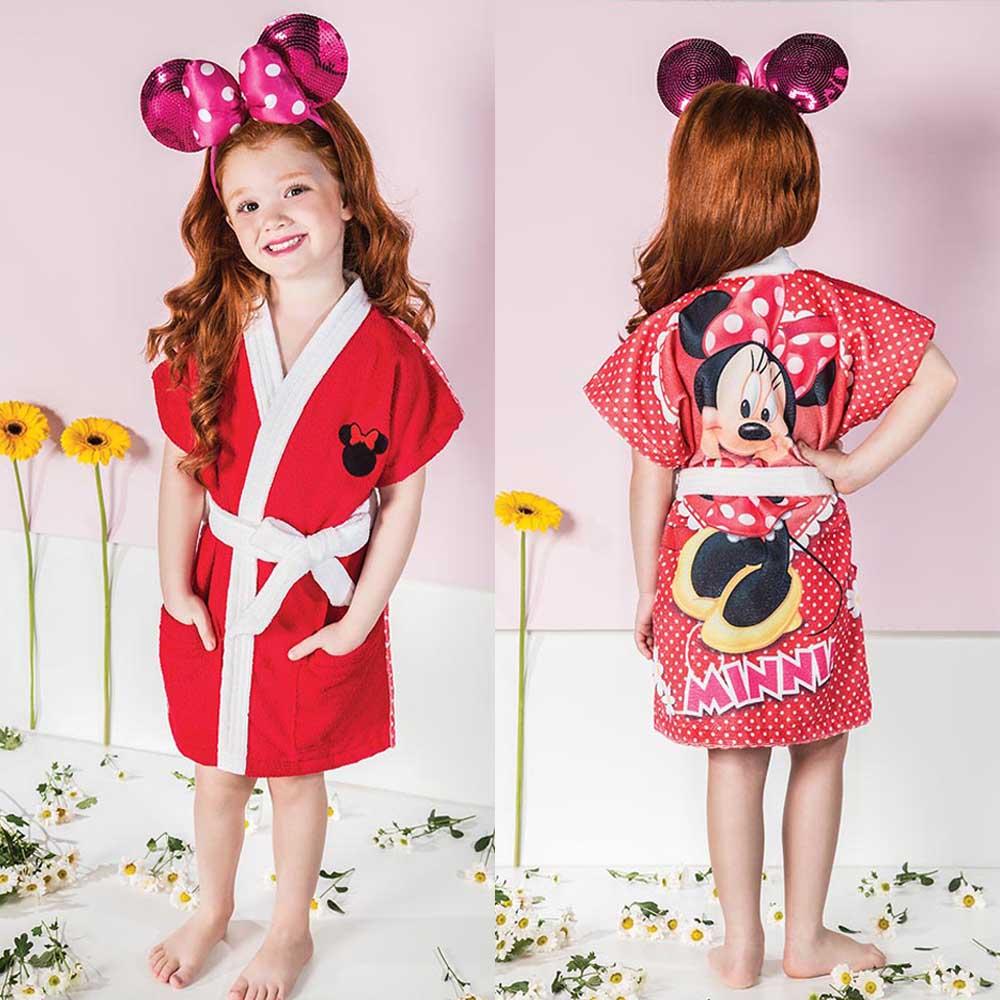Roupão Infantil ~ Roup u00e3o Infantil Aveludado Minnie Lepper (P) ShopCama
