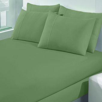 Jogo-de-Cama-Solteiro-Malha-Art-Premium-Verde-Orvalho-2-Pecas---Buettner