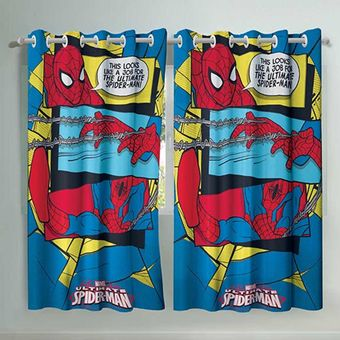 Cortina-Infantil-spider-man-ultimate-150-x-180cm-Com-2-pecas-Lepper