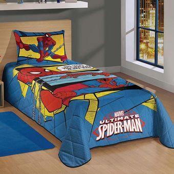 Colcha-Solteiro-Spider-Man-Ultimate---Lepper