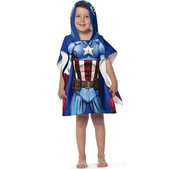Toalha-Poncho-infantil-com-Capuz-Avengers-Capitao-America---Lepper