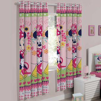 Cortina-Infantil-200-x-180cm-Minnie-Flowers---Santista
