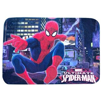 Tapete-Infantil-50-x-75cm-Transfer-Spider-Man-City---Jolitex