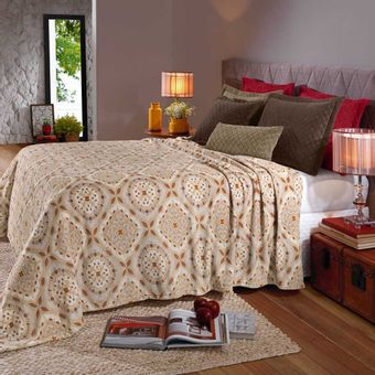 Cobertor-Queen-Plush-Ville---Hedrons