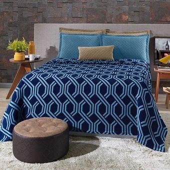 Cobertor-Casal-Plush-Estampado-Trellis---Hedrons