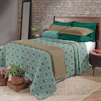 Cobertor-Casal-Plush-Estampado-Vintage---Hedrons