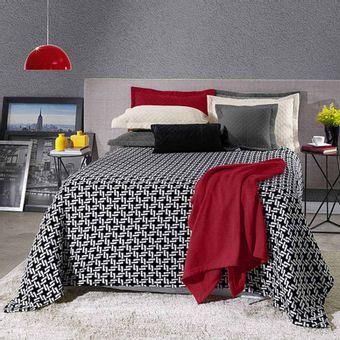 Cobertor-Casal-Plush-Estampado-Duomo---Hedrons