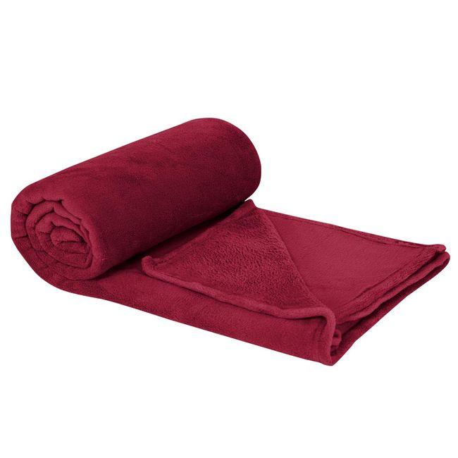 Cobertor-Casal-Plush-Vermelho-Laca---Hedrons