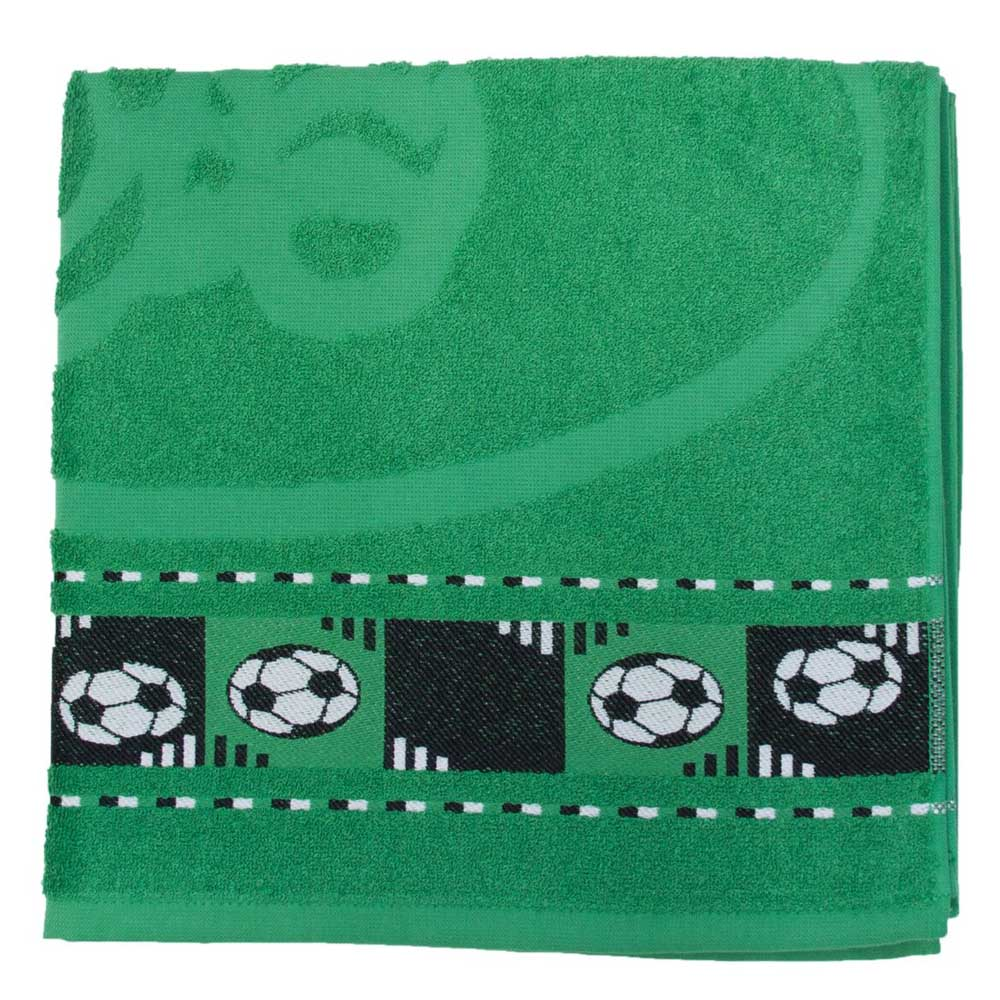 Toalha de Banho Infantil Verde Bandeira Soccer - São Carlos