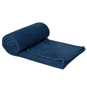 Cobertor-Casal-Plush-Navy---Hedrons