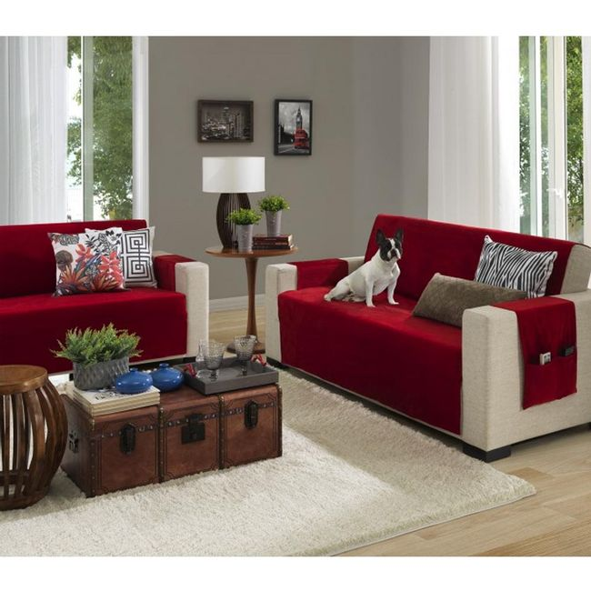 Protetor-de-Sofa-3-e-2-Lugares-Master-Veludo-Italiano-Vermelho-Laca---Hedrons
