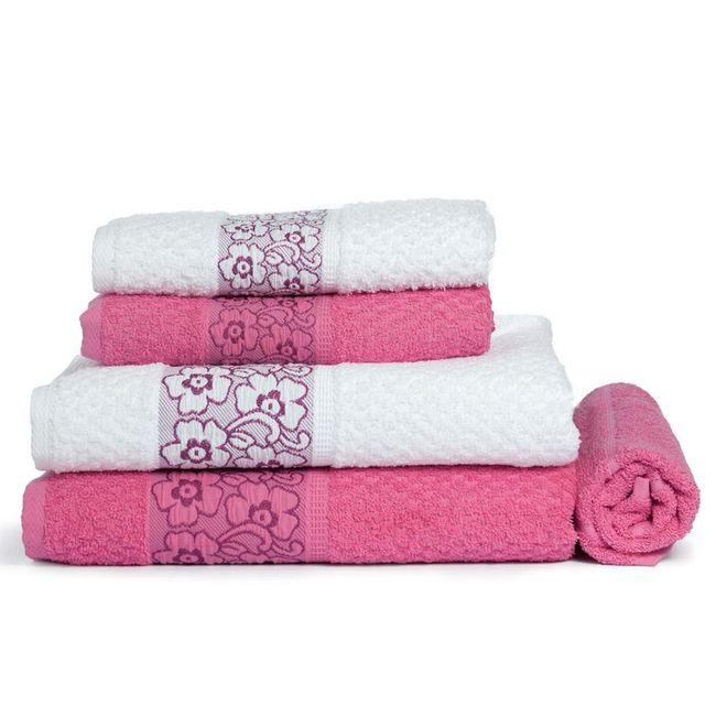 Jogo-de-Banho-5-Pecas-Branco-Pink-Thaysi---Sao-Carlos