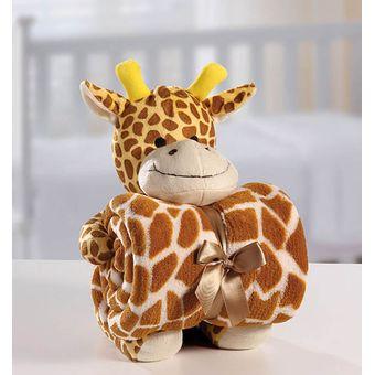 Manta-com-Bichinho-de-Pelucia-Girafa---Bouton