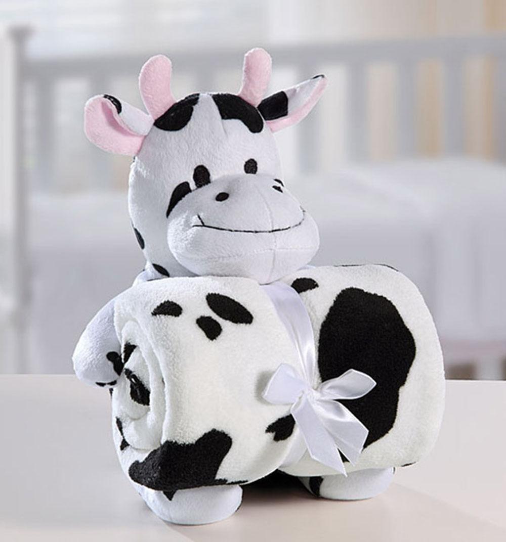 Manta com Bichinho de Pelúcia Funny Cow - Bouton
