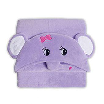 Manta-Microfibra-Infantil-Capuz-Elefante---Bouton