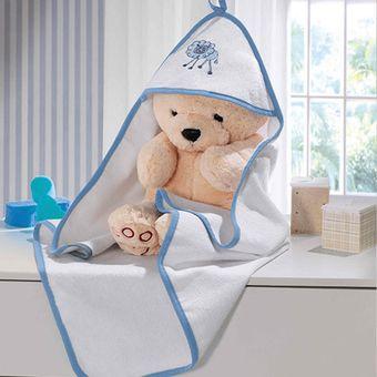 Toalha-de-Banho-Felpuda-Little-Pets-Azul---Bouton