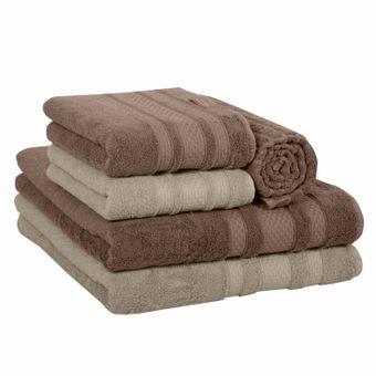 Jogo-de-Banho-5-Pecas-Algodao-Egipcio-Palha-Khaki---Bouton