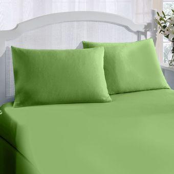 Jogo-de-Cama-Solteiro-King-200-Fios-Verde-2-Pecas---ShopCama