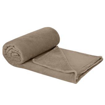 Cobertor-Casal-Plush-Taupe---Hedrons