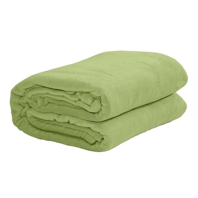 Cobertor-casal-Microfibra-verde-Sultan
