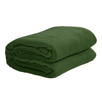 Cobertor-casal-Microfibra-verde-musgo-Sultan