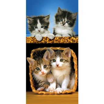 Toalha-de-Praia-Resort--Veludo-basket-of-cat-Bouton-31091