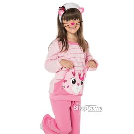 Pijama-Infantil-Longo-Canguru-Moletinho-Gatinha-Rosa-Vinci-01