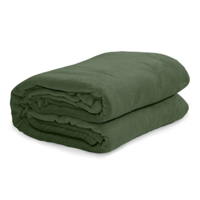 Cobertor Solteiro Microfibra Verde Musgo - Termocel
