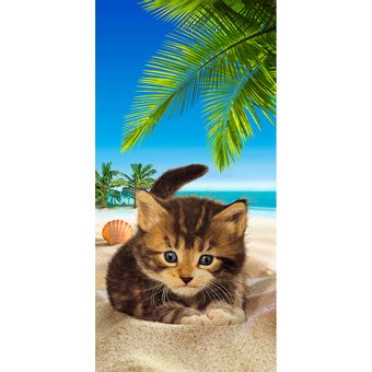 Toalha-de-Praia-Cat-on-the-Beach---Buettner