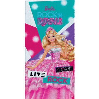 Toalha-de-Banho-Barbie-Rock-Royals-Felpuda-Mod-2