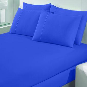 Jogo-de-Cama-Casal-Malha-Art-Premium-Azul-Marine-3-Pecas---Buettner