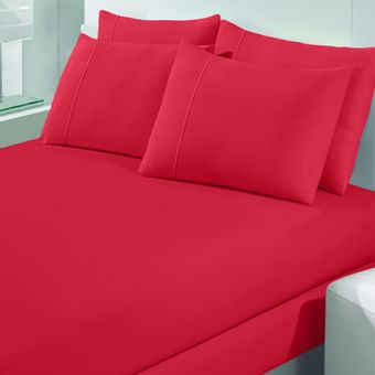 Jogo-de-Cama-Solteiro-Malha-Art-Premium-Vermelho-2-Pecas---Buettner