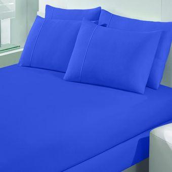 Jogo-de-Cama-Solteiro-Malha-Art-Premium-azul-marine-2-Pecas-Buettner