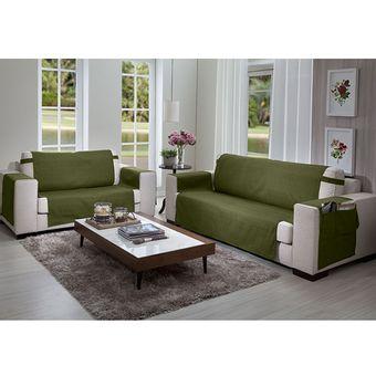Protetor-de-Sofa-3-e-2-lugares-Elegance-Verde-Floresta---Izaltex