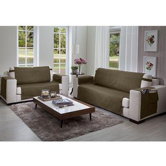 Protetor-de-Sofa-3-e-2-lugares-Elegance-Marrom---Izaltex