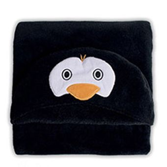 Manta-Microfibra-Infantil-Capuz-Pinguim---Bouton