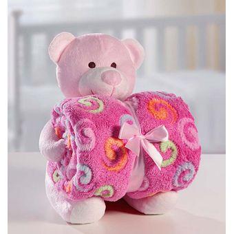 Manta-com-Bichinho-de-Pelucia-Urso-Rosa---Bouton