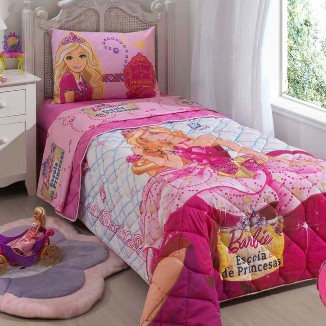 Edredom-Infantil-Barbie-Escola-de-Princesas---Lepper