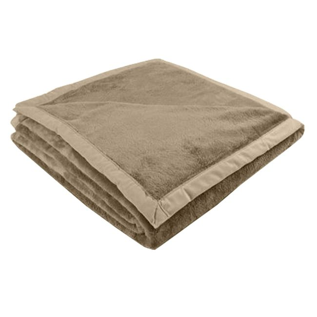 Cobertor-King-240-x-250cm-Toque-de-Luxo-Marrom-Claro---Europa