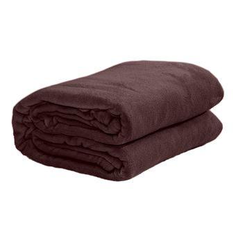 Cobertor-casal-Microfibra-marrom-Sultan