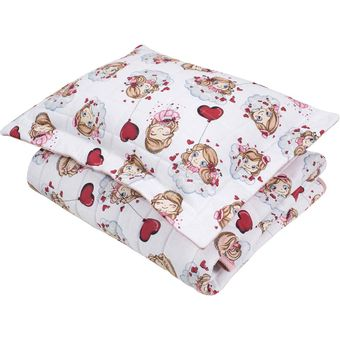 Cobre-leito-para-Berco-pink-girls--Baby-2-Pecas-Lynel
